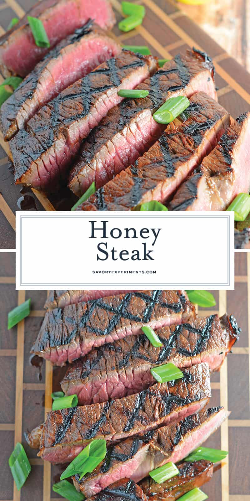 Honey Steak is one of the best beef on the grill recipes using an easy beef marinade. Plus... grilling steak tips! #steakonthegrill #bestbeefmarinade www.savoryexperiments.com