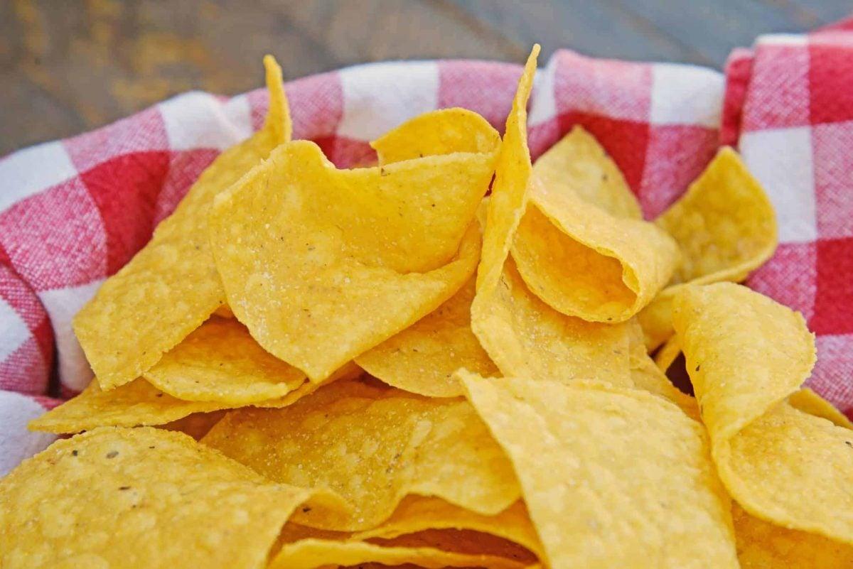 Close up of Homemade Tortilla Chips