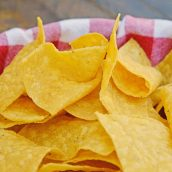 Close up of Homemade Tortilla Chips