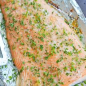 glazed baked salmon on foil