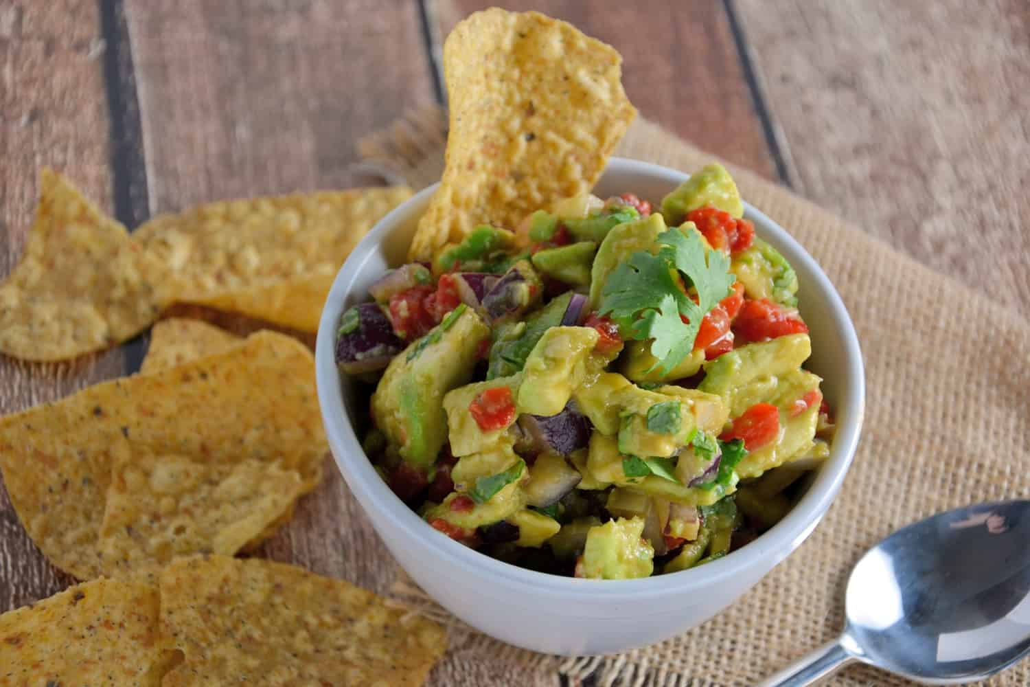Avocado Chutney Recipe- use this simple and healthy chutney to top chicken, fish, steak or as an easy guacamole!