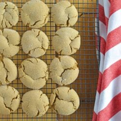 Molasses cookies, sometimes known as ginger snaps or spice cookies, are one of my favorite Christmas cookies. Soft and spicy without being overly sweet.