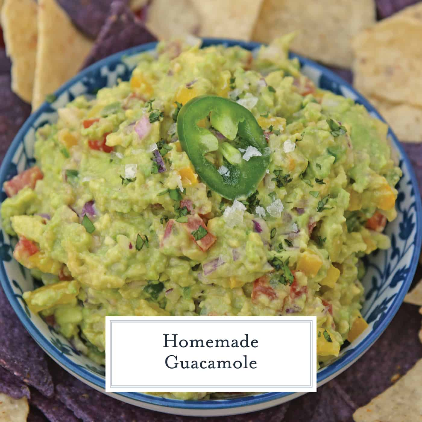 This Homemade Guacamole is one of the Best Guacamole Recipe you'll find! It's an easy guacamole recipe that is perfect for pairing with chips, fish, chicken, beef, salad or any food that needs a little pick-me-up! #bestguacamolerecipe #easyguacamolerecipe #homemadeguacamole www.savoryexperiments.com