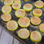 Tray of Crispy Summer Squash