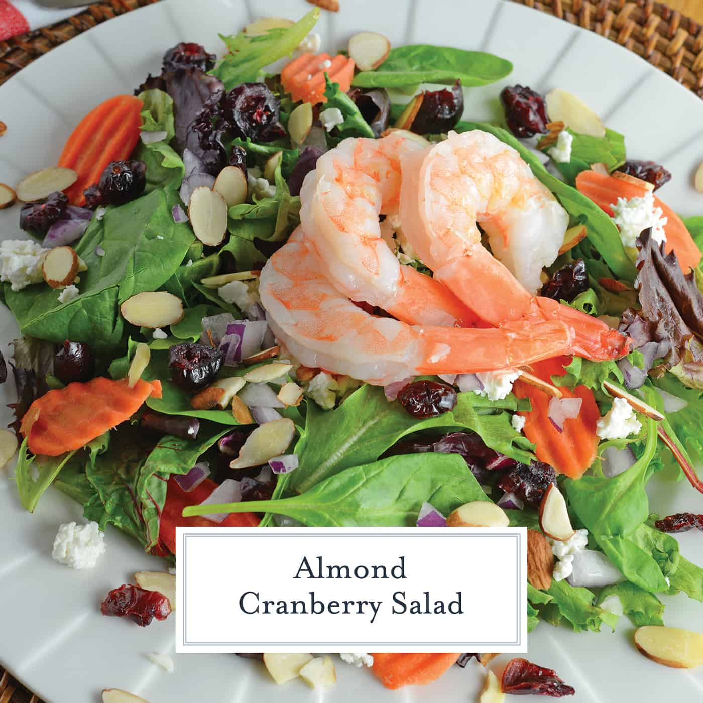 This Almond Cranberry Salad with Dijon Vinaigrette is a quick yet tasty meal solution! Throw it together for a healthy quick dinner or lunch! #summersalads #cranberrysalad #easysaladrecipes www.savoryexperiments.com
