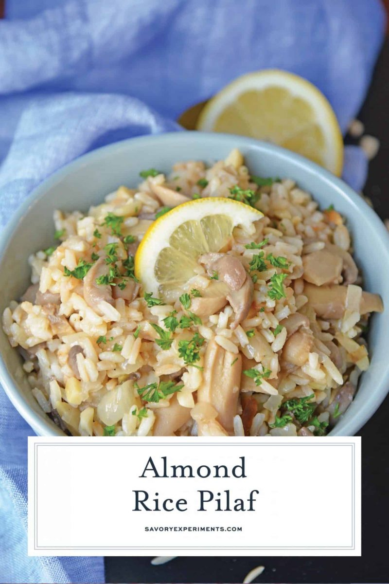 close up of Almond Rice Pilaf