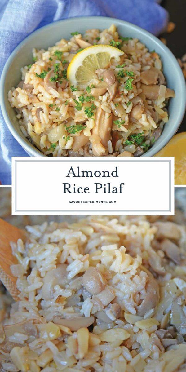 Almond Rice Pilaf for Pinterest
