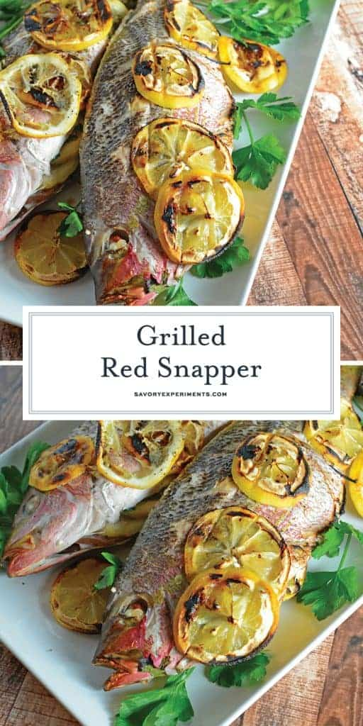 Grilled Red Snapper for Pinterest