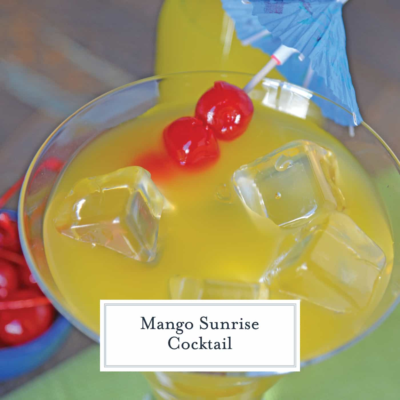 A Mango Sunrise is a deliciously refreshing tequila cocktail that is perfect for sipping any time of day! This Mango Sunrise recipe makes one delicious drink! #tequilacocktails #cocktailsthatusetequila #mangococktails www.savoryexperiments.com