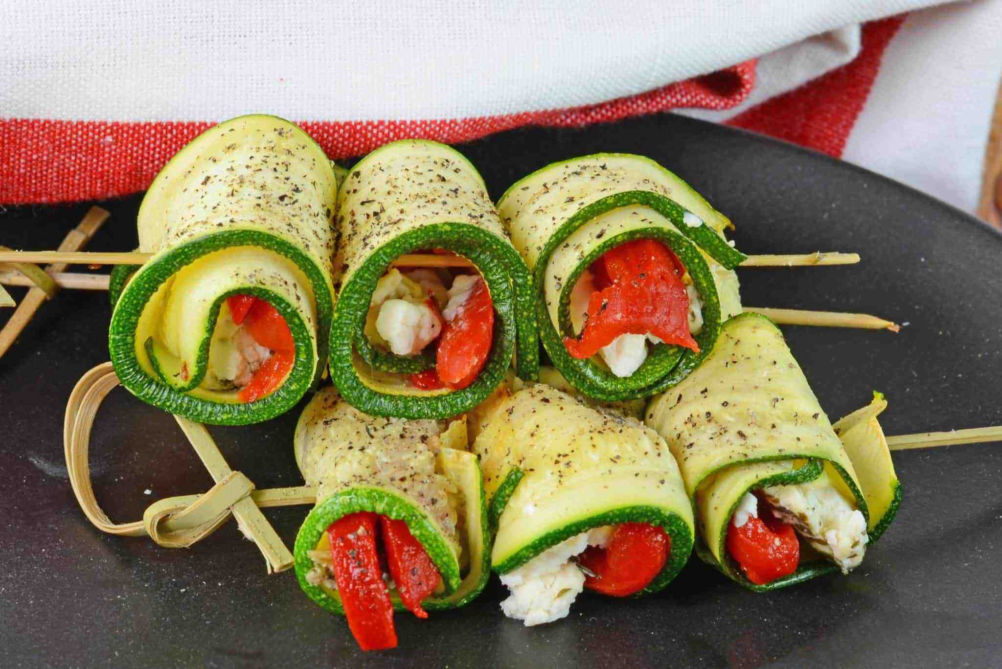Goat Cheese Zucchini Roll Ups Easy Roll Up Recipes