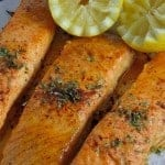 Ancho Citrus Salmon Recipe - a base of orange juice concentrate, lemon, ancho chili powder and a drip of honey. www.savoryexperiments.com