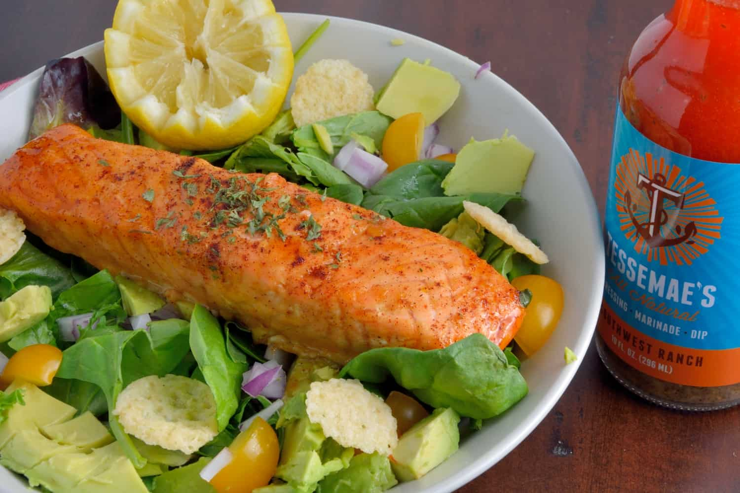 Ancho Citrus Baked Salmon is a simple, easy, low fat, vitamin packed, deliciously tasty recipe! This ancho citrus marinade is an ideal sauce to use for salmon! #easysalmonrecipes #salmonmarinade #sauceforsalmon www.savoryexperiments.com