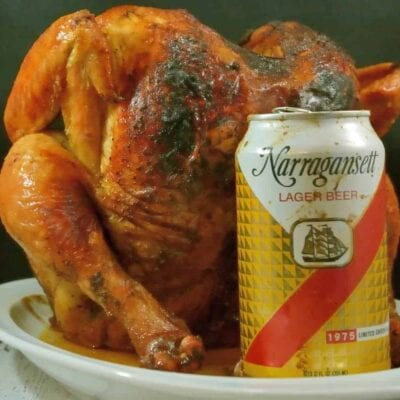 Beer Can Chicken Recipe is one of the simplest and tastiest ways to prepare a whole bird. Pair with Cola BBQ sauce for an amazing dinner on the grill (or in the oven)!