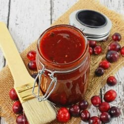 Cran Blueberry BBQ is a zesty sauce for grilled chicken, seafood or even vegetables. Sweet with a little bit of tang and a spike of coffee.