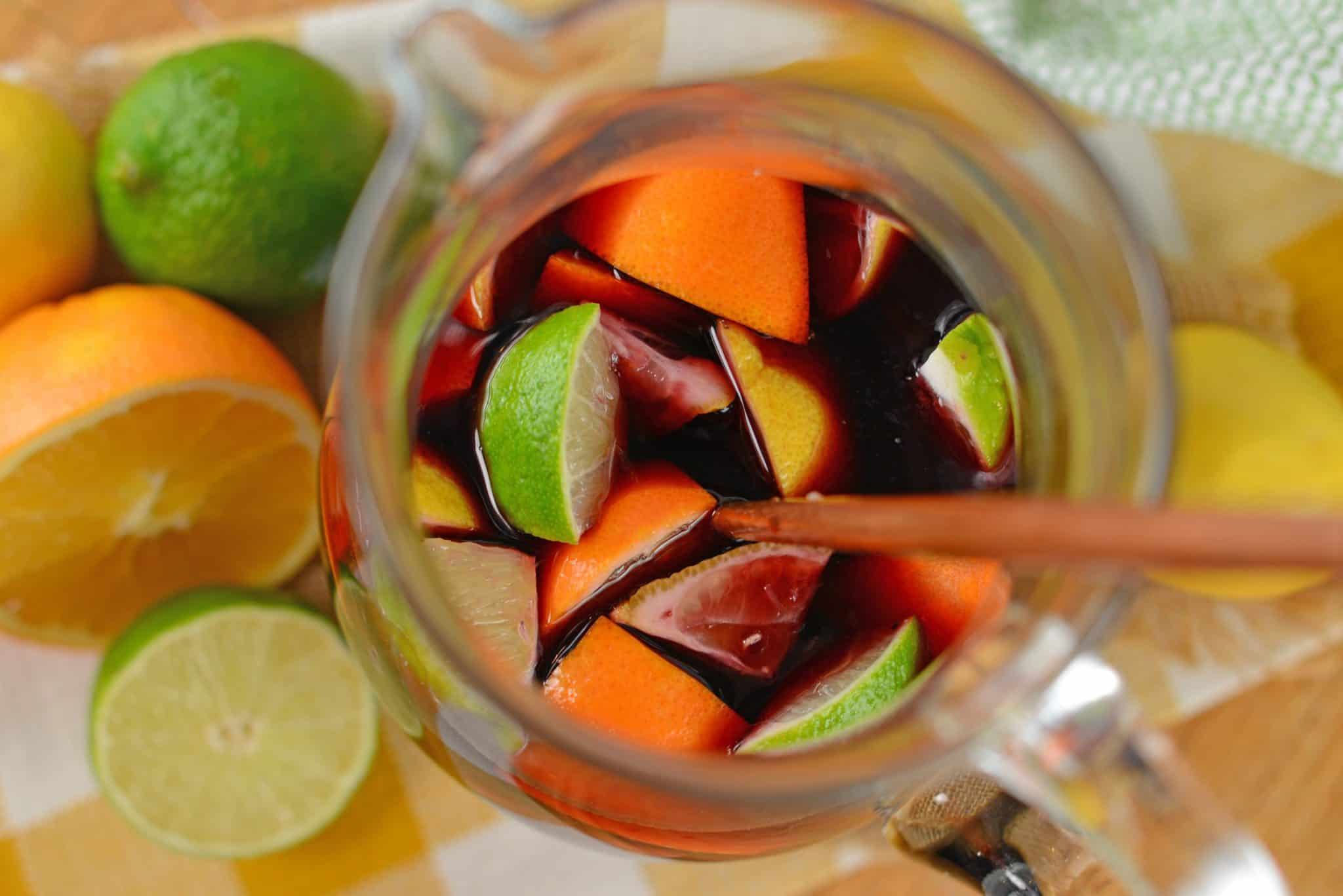 Red sangria the best fall sangria recipe with fresh fruit this red sangria recipe shows you how to make sangria the simplest way possible its thecheapjerseys Choice Image