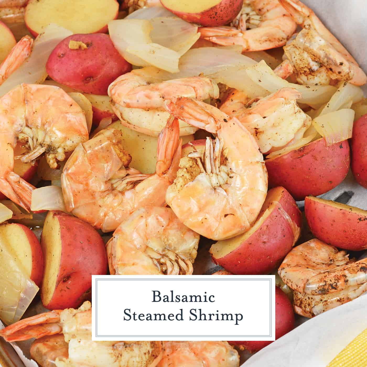 Balsamic Steamed Shrimp is a new twist on an old favorite! If you don't know how to steam shrimp then this recipe will show you how! #steamedshrimp #howtosteamshrimp www.savoryexperiments.com