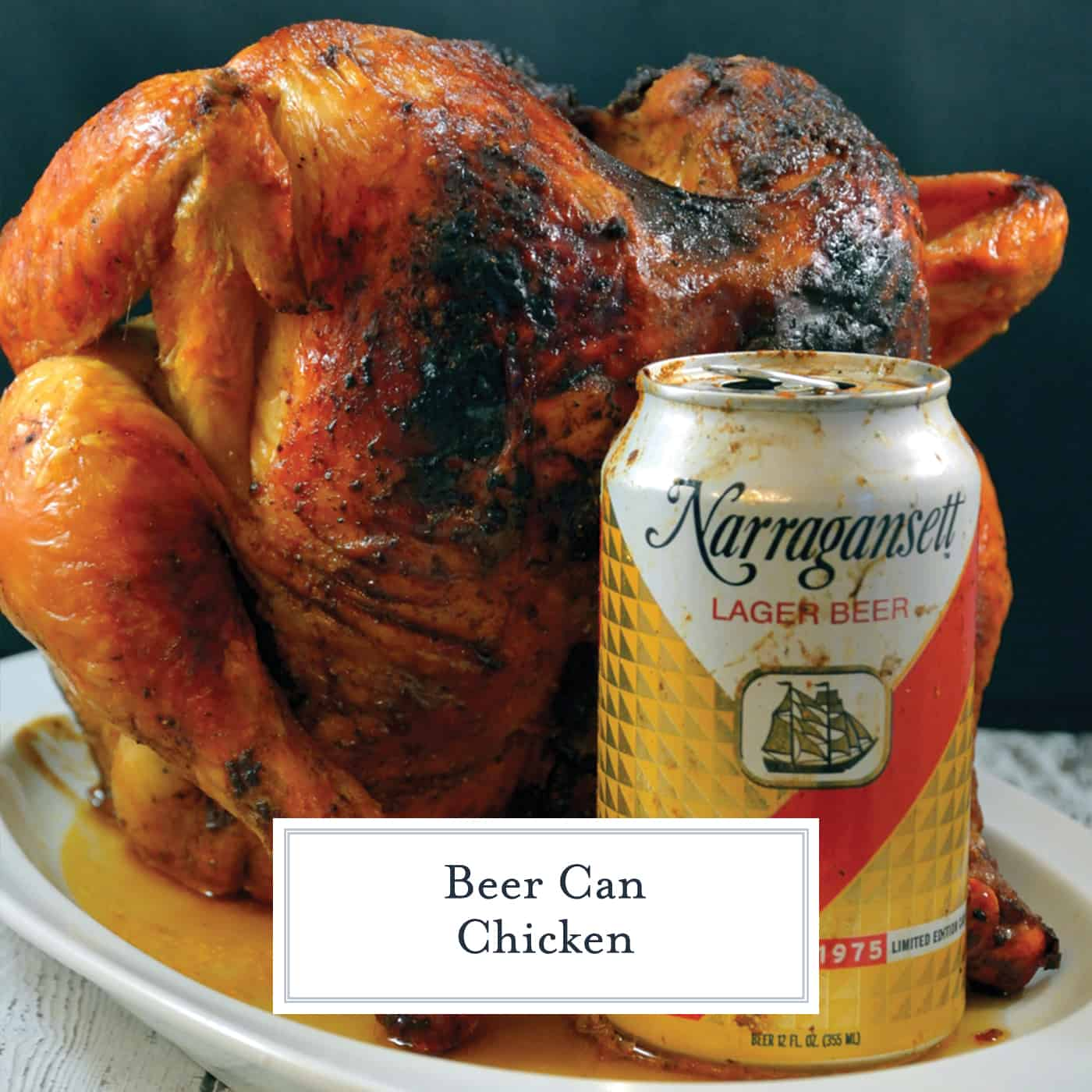 This Beer Can Chicken Recipe is one of the easiest and tastiest ways to prepare a whole chicken.  Only 10 minutes of prep, and onto the grill it goes! #beercanchicken #beercanchickengrill #beercanchickenrub www.savoryexperiments.com