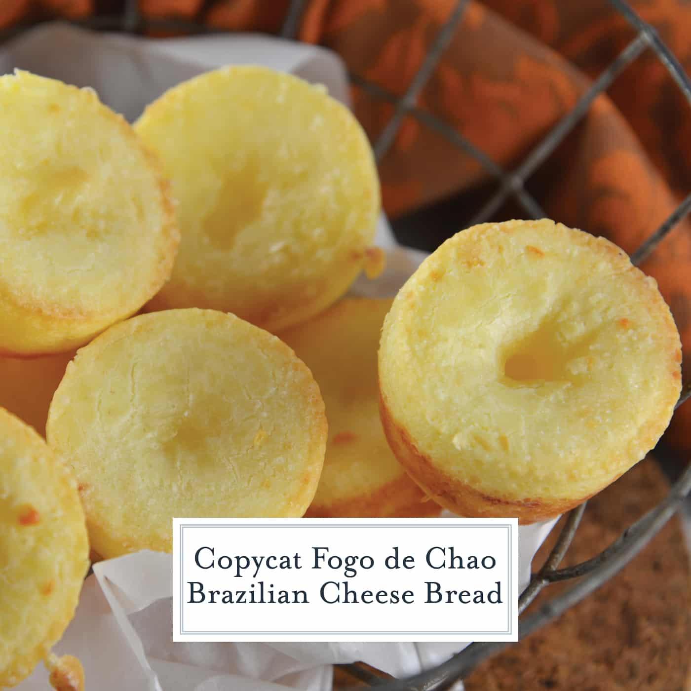 Fogo de Chao Rolls, also known as Brazilian cheese puff bread, are easier to make at home than you think. This gluten-free bread is also yeast free and only takes 30 minutes! #fogodechaorolls #braziliancheesebread www.savoryexperiments.com