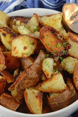 Make Crispy Home Fries just like at the restaurant at home. My recipe is super crispy, but also has a secret ingredient guaranteed to make these the best breakfast potatoes ever!