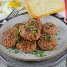 Stack of Homemade Breakfast Sausage patties