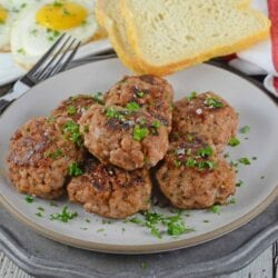 Stack of Homemade Breakfast Sausage patties