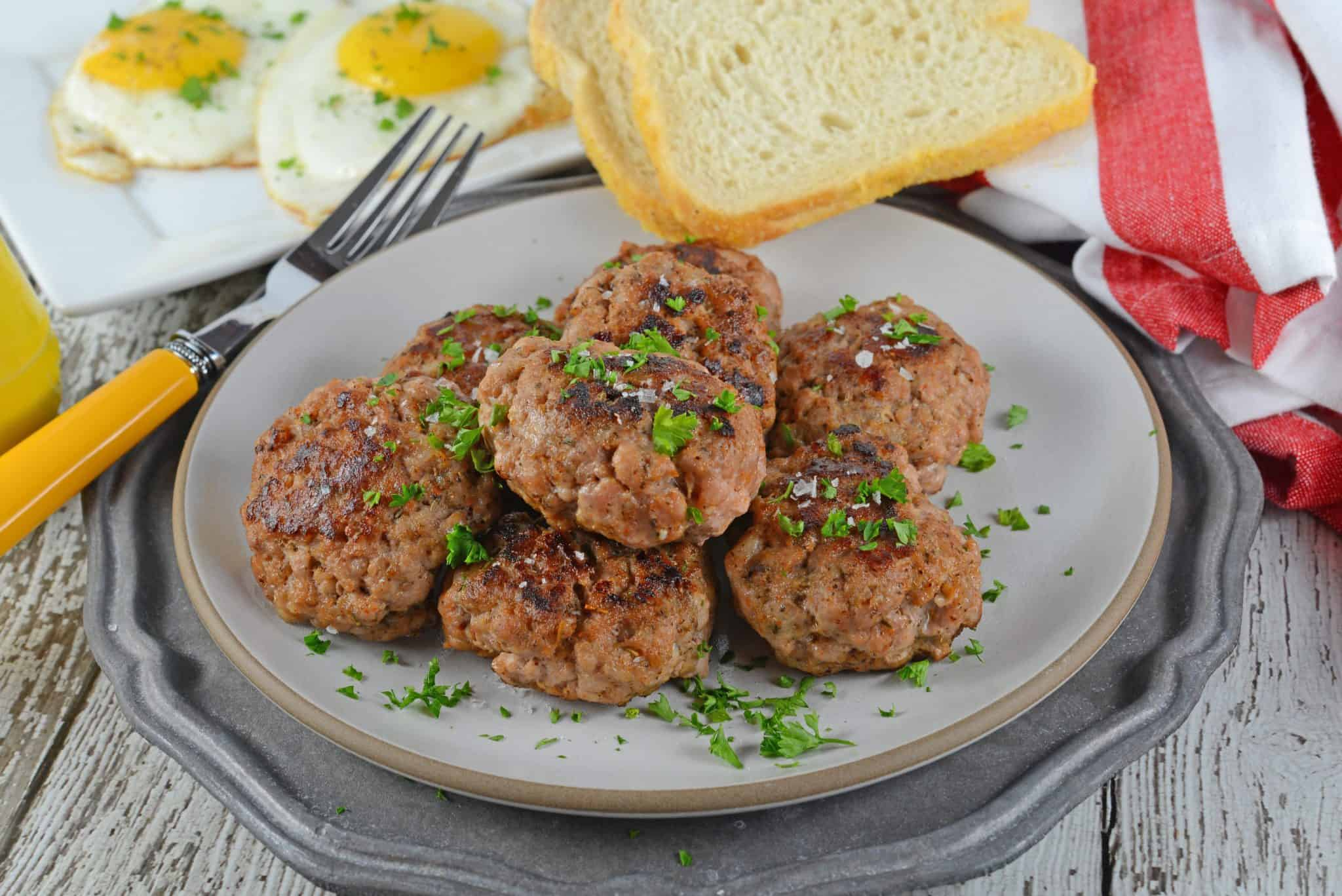 Homemade Breakfast Sausage is easier than you think using my proprietary blend of sausage seasoning and then forming them into sausage patties or sausage balls.