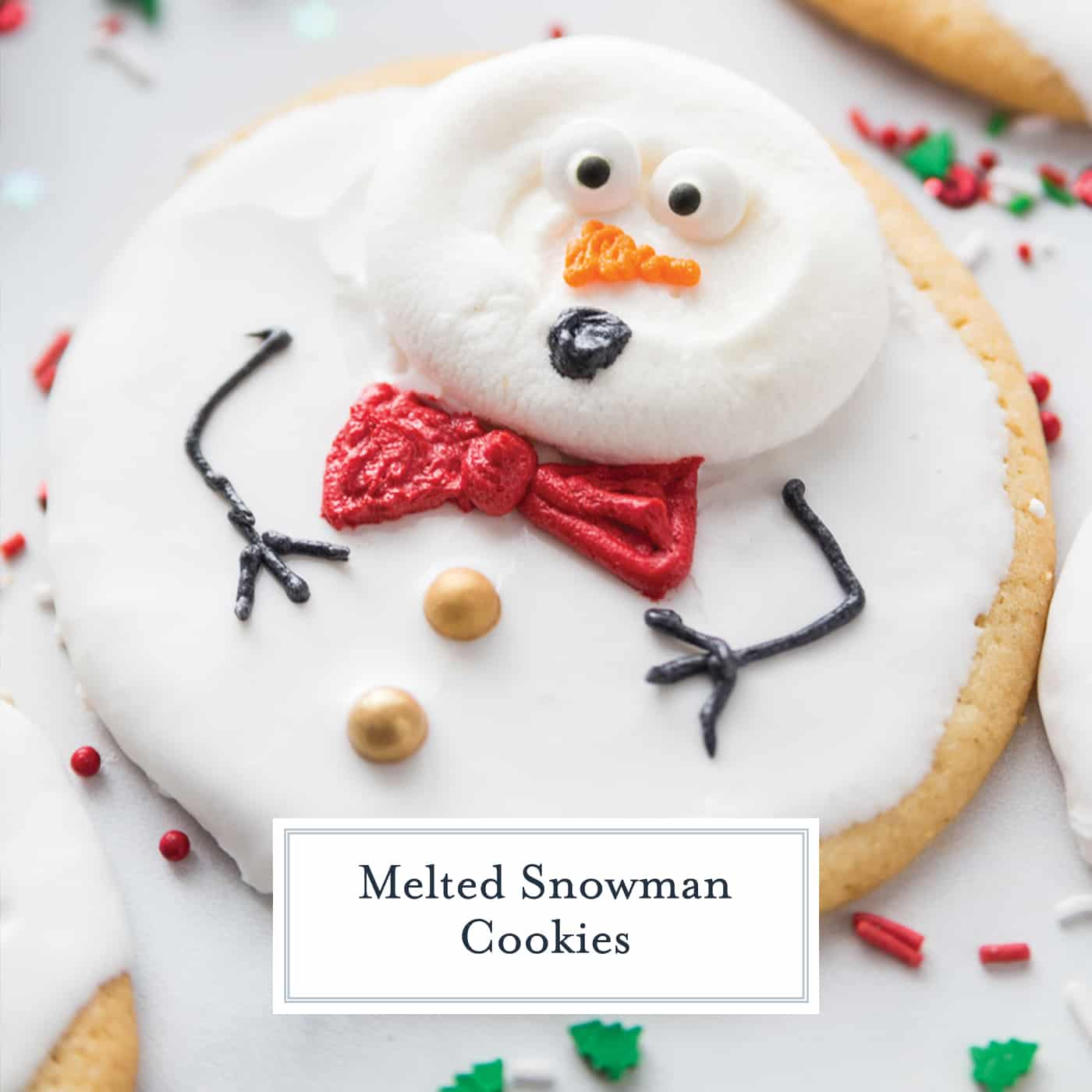 Melted Snowman Cookies An Easy Christmas Cookie Recipe