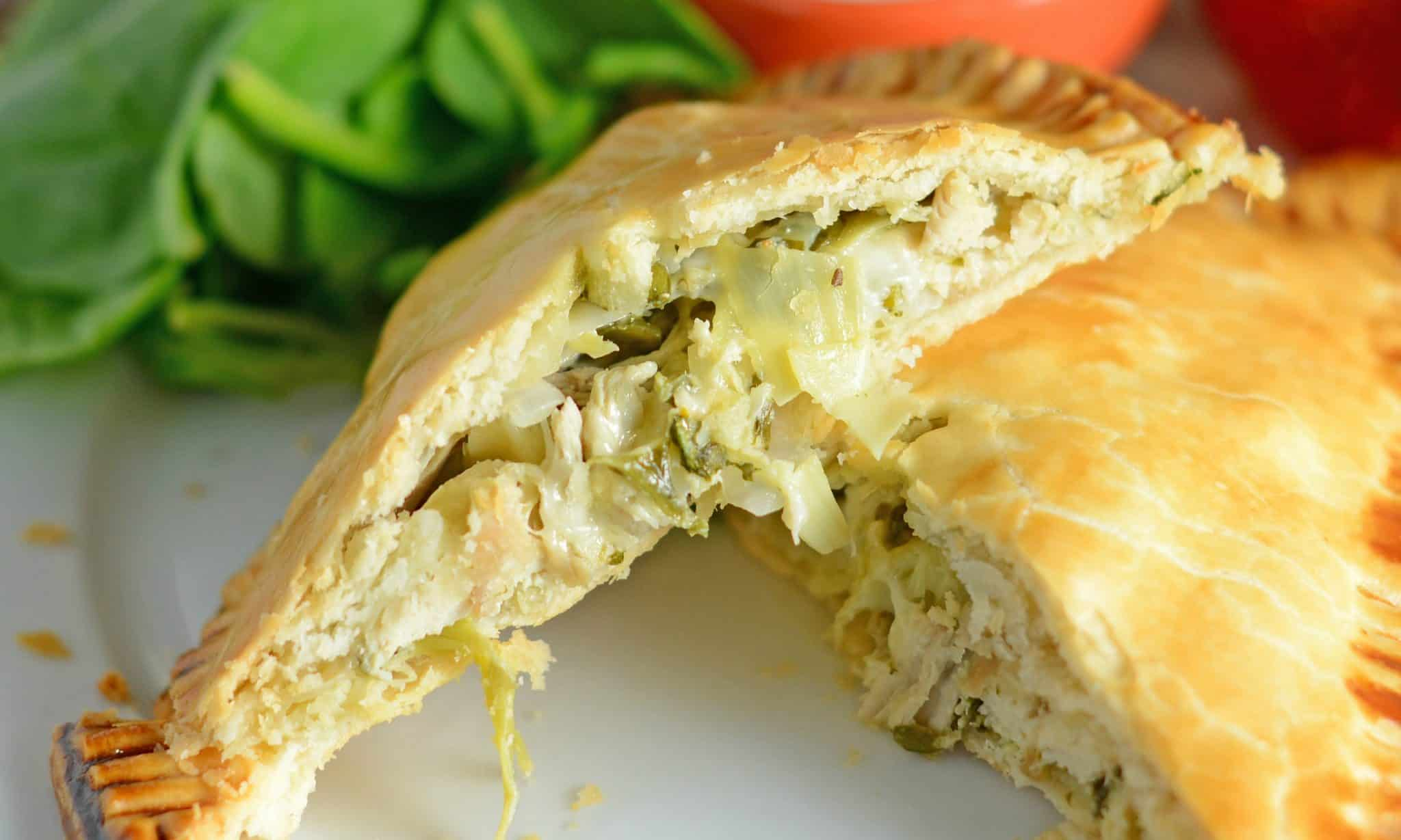 artichoke chicken hand pie