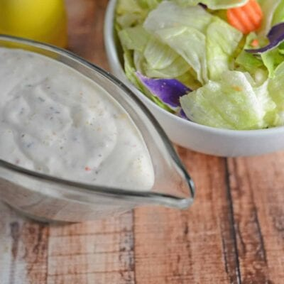 Homemade Italian Dressing - Creamy, zesty Italian dressing made in just 10 minutes from whole ingredients. www.savoryexperiments.com