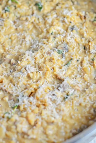 This Creamy Mushroom Risotto Recipe shows you how to make risotto in a simple, delectable way! Mushroom risotto is a creamy and lavish dish loaded with flavor! #risottorecipes #mushroomrisotto #whatisrisotto www.savoryexperiments.com