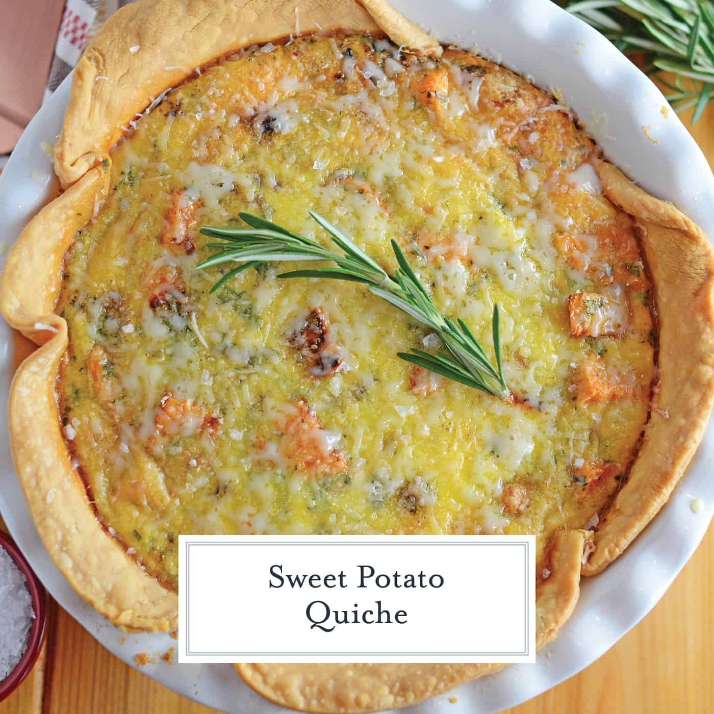Sweet Potato Quiche is an easy quiche recipe that can be made for brunch, as an entree or side dish! The perfect recipe to serve during the colder seasons! #easyquicherecipe #breakfastquiche #baconquiche www.savoryexperiments.com