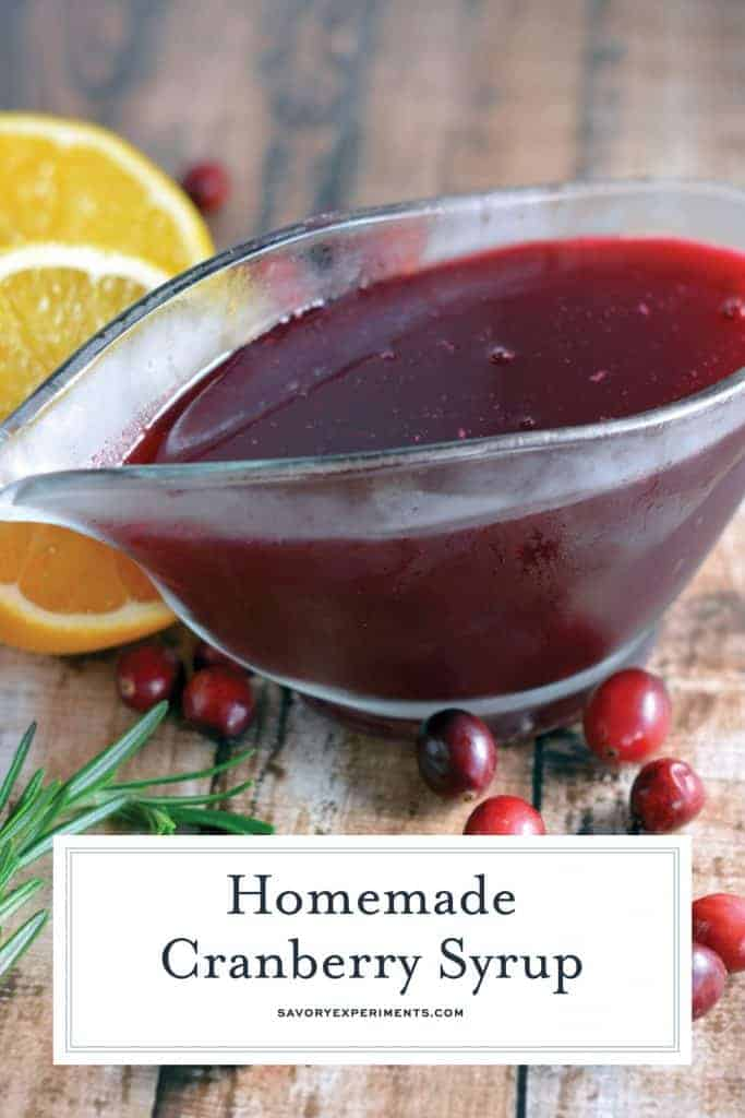 Cranberry syrup for pinterest