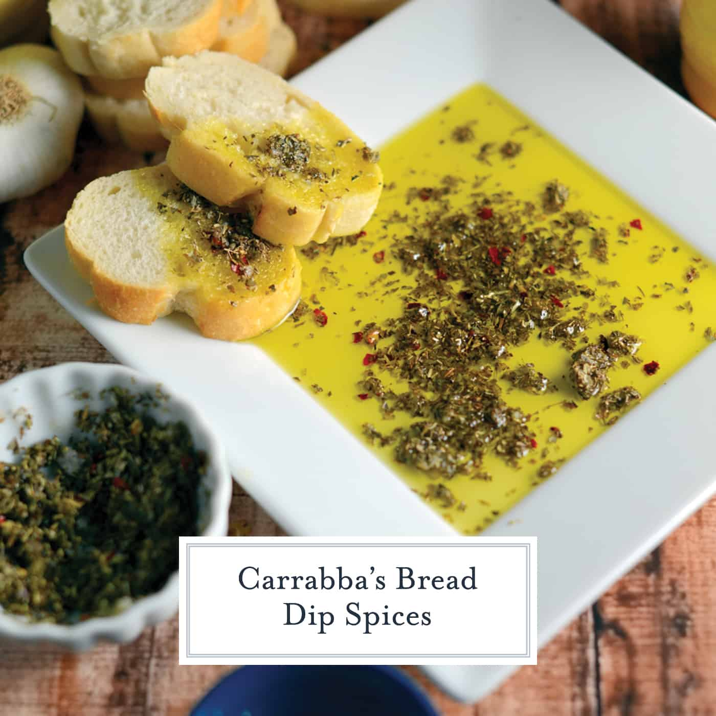 Carrabba's Olive Oil Bread Dip in a white dish