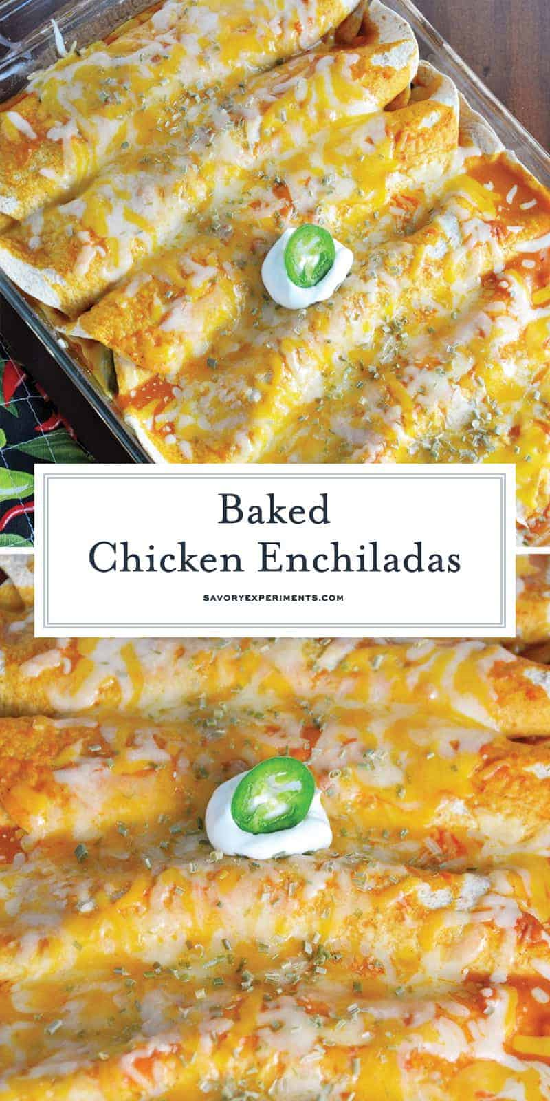 Baked Chicken Enchiladas for Pinterest