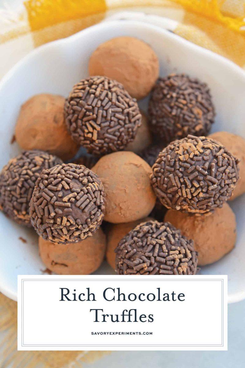chocolate truffles in a bowl