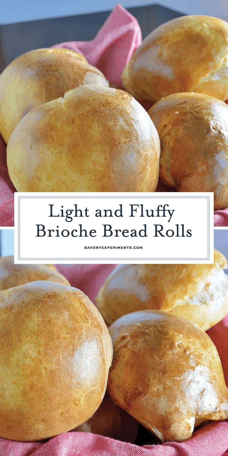 This Brioche Bread Rolls recipe shows you that making bread at home isn't as hard as you think! Step-by-step instructions on how to make brioche right here! #briocheroll #whatisbrioche #Howtomakebrioche www.savoryexperiments.com