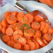 Honey Glazed Carrots are a simple dish with only a handful of ingredients that makes any family table shine! These candied carrots have a sweet & smoky flavor! #honeyglazedcarrots #candiedcarrots www.savoryexperiments.com