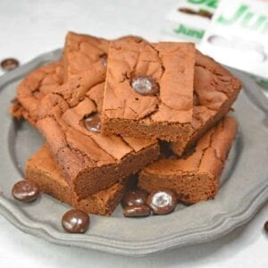 Junior Mint Brownies are homemade brownies blended with cool, creamy Junior Mints. Serve warm with vanilla ice cream for an amazing Brownie Sundae!