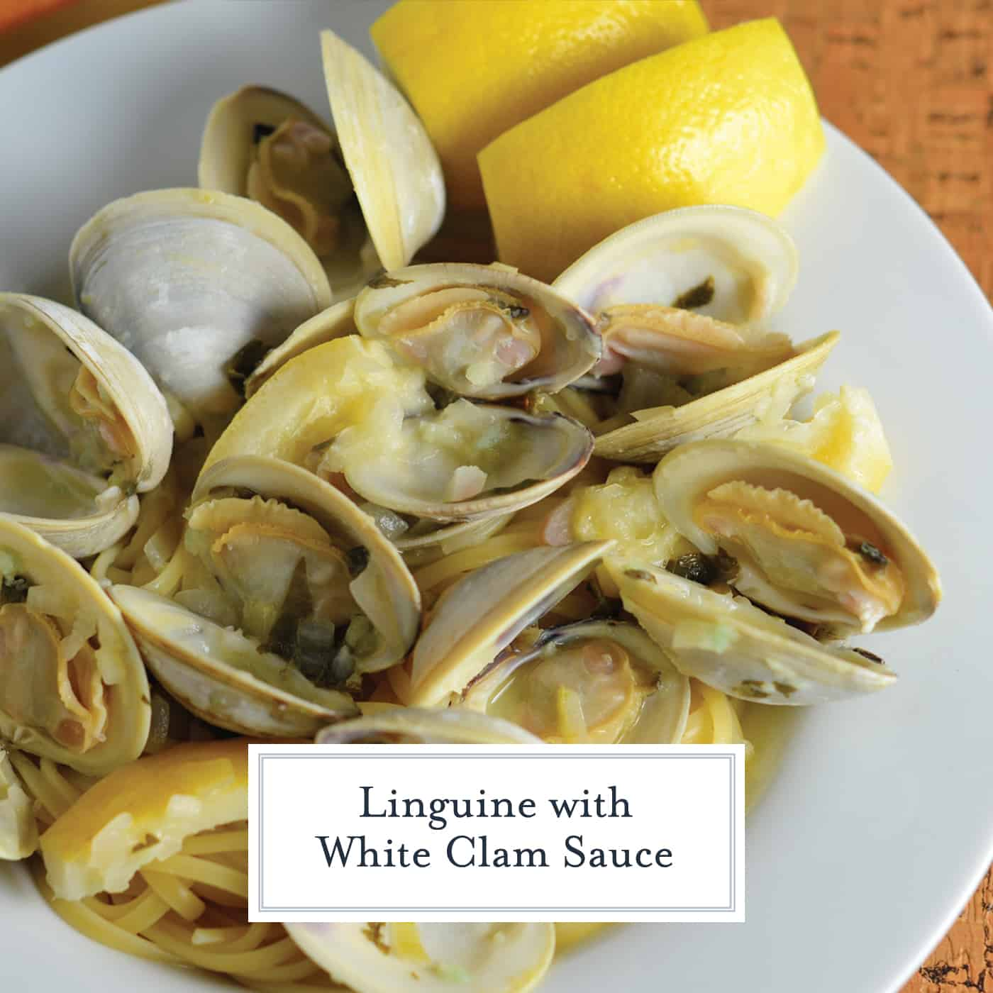 Linguine with White Clam Sauce, just like at the restaurant. Buttery broth, chopped and whole clams in an easy shallot, garlic and parsley sauce. #seafoodpastarecipe #easyseafoodrecipes www.savoryexperiments.com