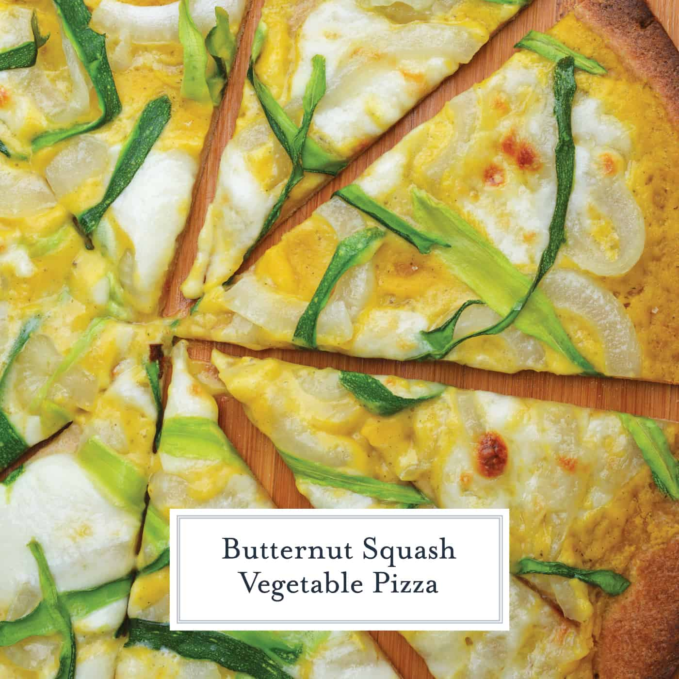 Butternut Squash Vegetable Pizza is an easy homemade pizza recipe!  If you're looking for a recipe to switch it up, this is the recipe for you! #vegetablepizza #cauliflowerpizzacrust #butternutsquashrecipes www.savoryexperiments.com