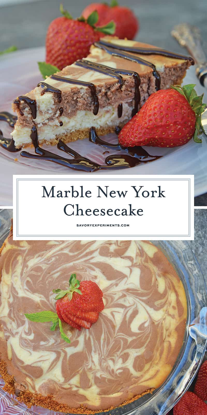 Marble New York Cheesecake A Homemade Cheesecake Recipe