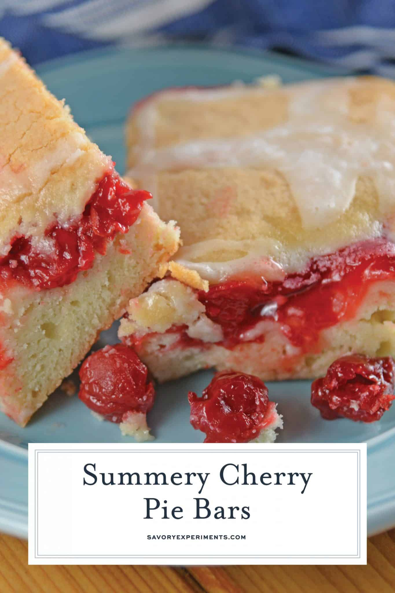 Cherry Pie Bars are the best mix of cherry pie, bars and hand pies. Easy to make and easy to eat, they are the ultimate easy dessert recipe! #cherrypiebars www.savoryexperiments.com