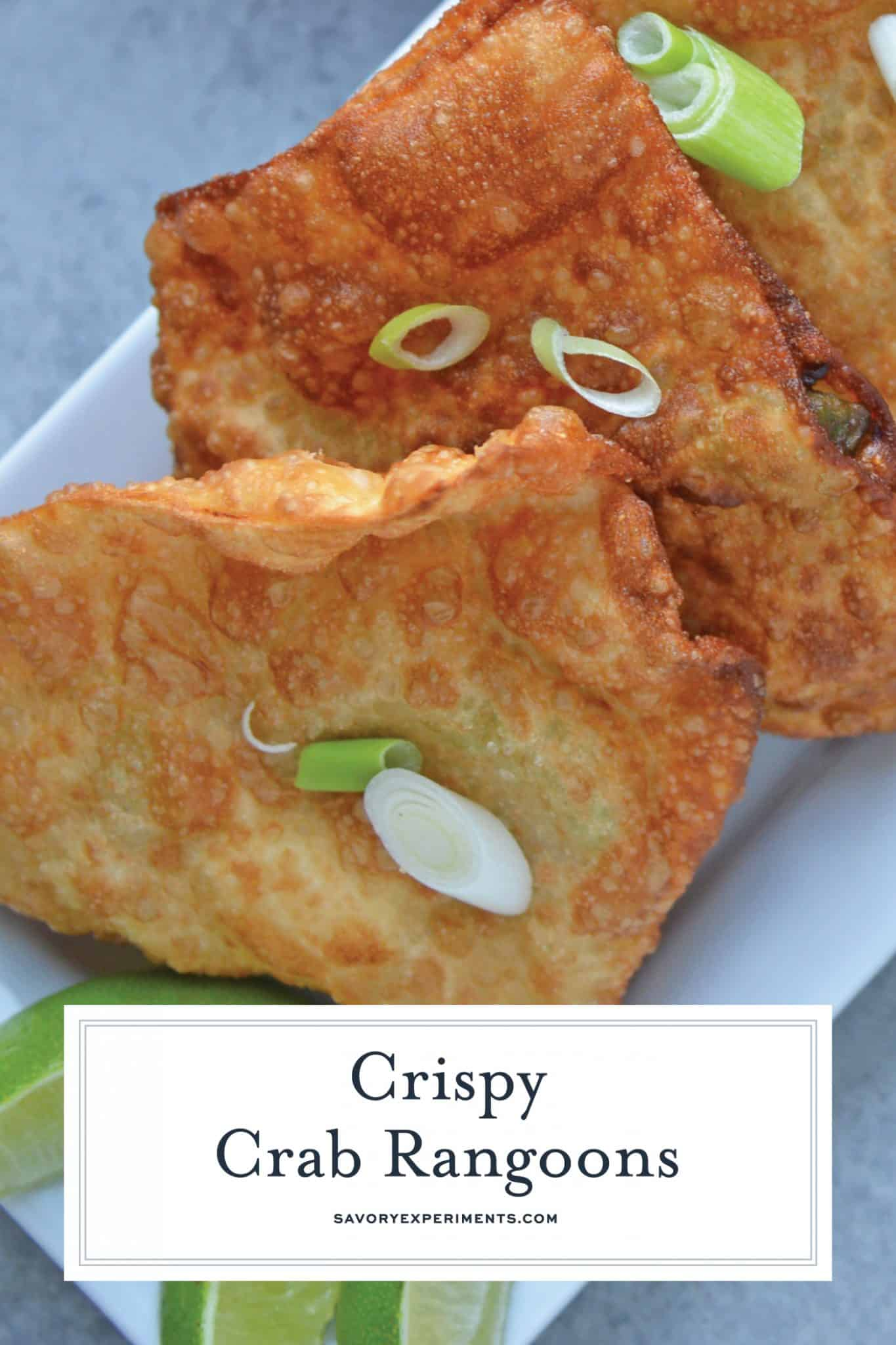 Crab Rangoon is one of my favorite appetizer recipes! Creamy avocado, buttery crab and cream cheese with a Jalapeno Pineapple Sauce.