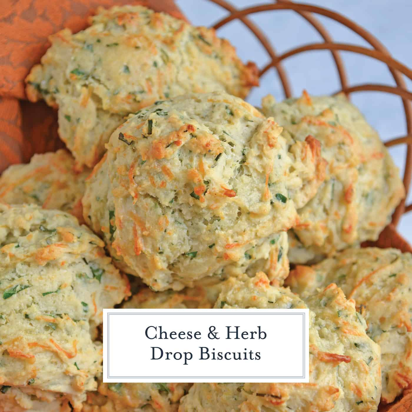 Cheese and Herb Biscuits are a delicious combination of fresh herbs, parmesan and mozzarella cheese! This recipe is perfect to enjoy as a side dish or a snack! #dropbiscuitrecipe #homemadebiscuits www.savoryexperiments.com