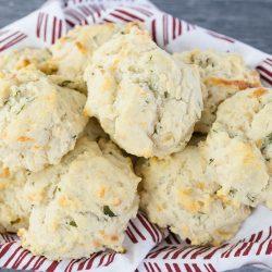 basket of drop biscuits