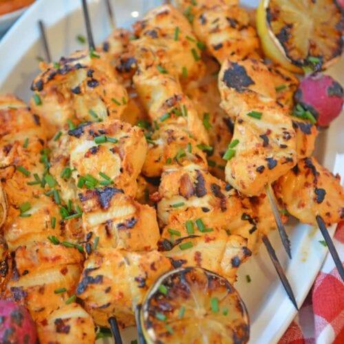 Harissa Chicken Kabobs Spicy Chicken On The Grill