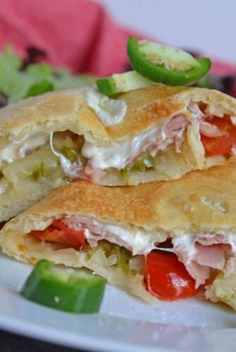 spicy hawaiian pizza calzone