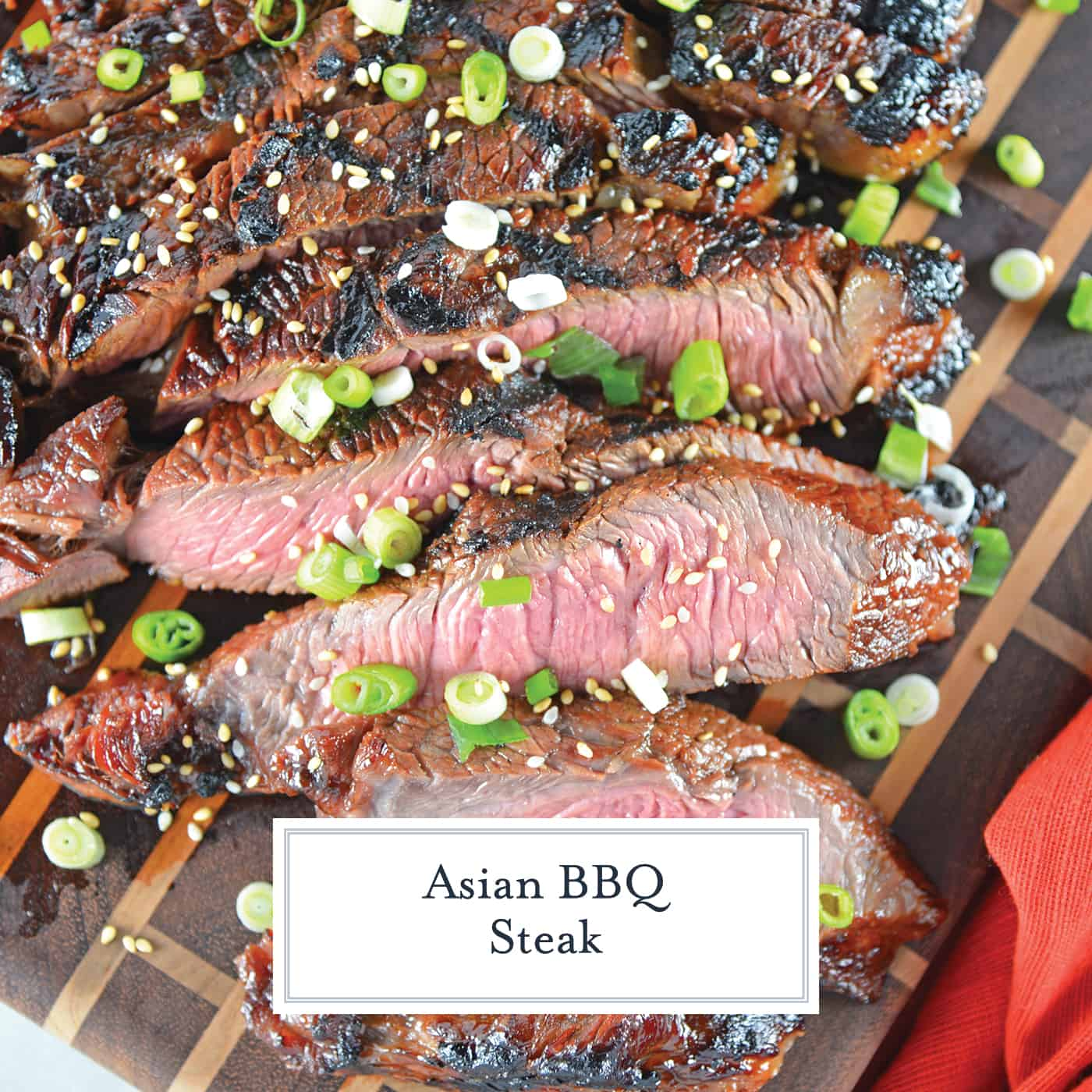 Asian BBQ Steak marinade can be used on any cut of beef, combining traditional Asian flavors like soy sauce, honey, ginger, sesame and garlic. #steakmarinade #bbqsteak #beefrecipe www.savoryexperiments.com
