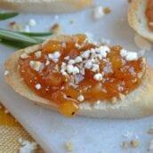 Apricot Bruschetta