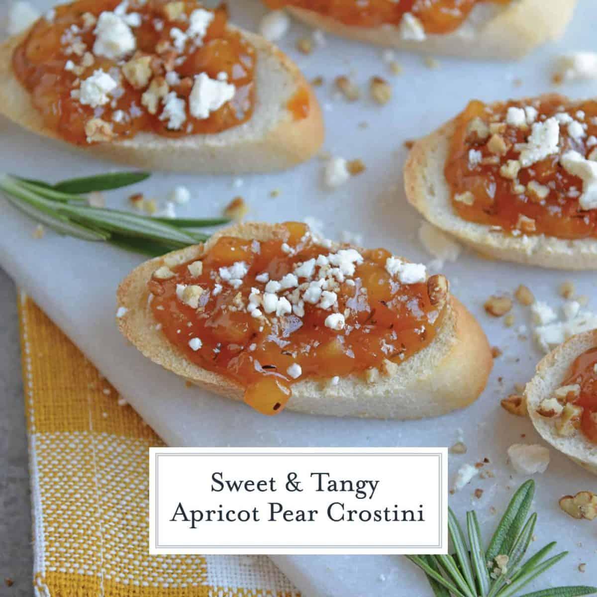 Apricot crostini